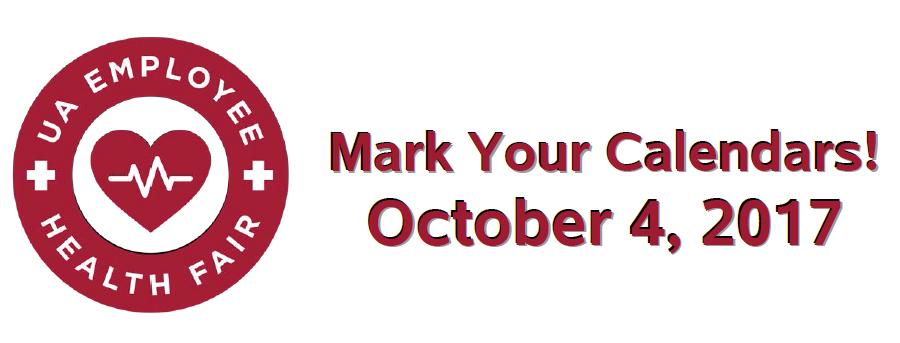 The Health Fair is October 4, 2017