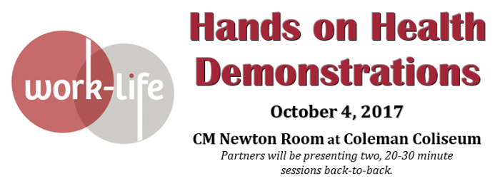 Hands on Health Demonstrations in CM Newton Room